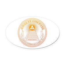 Eye of Providence 3 Oval Car Magnet