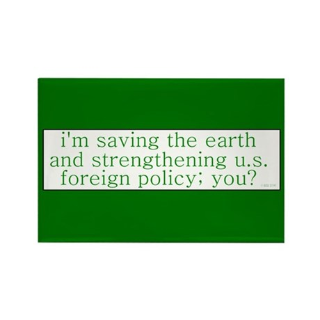 Saving the Earth Rectangle Magnet
