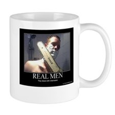 Real Men shave with chainsaw Mug