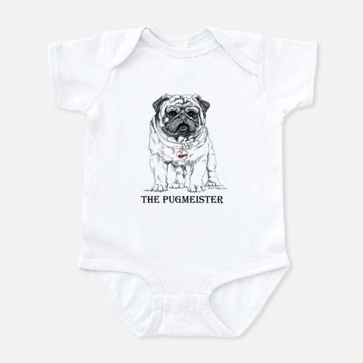 The Pugmeister Pug Infant Bodysuit
