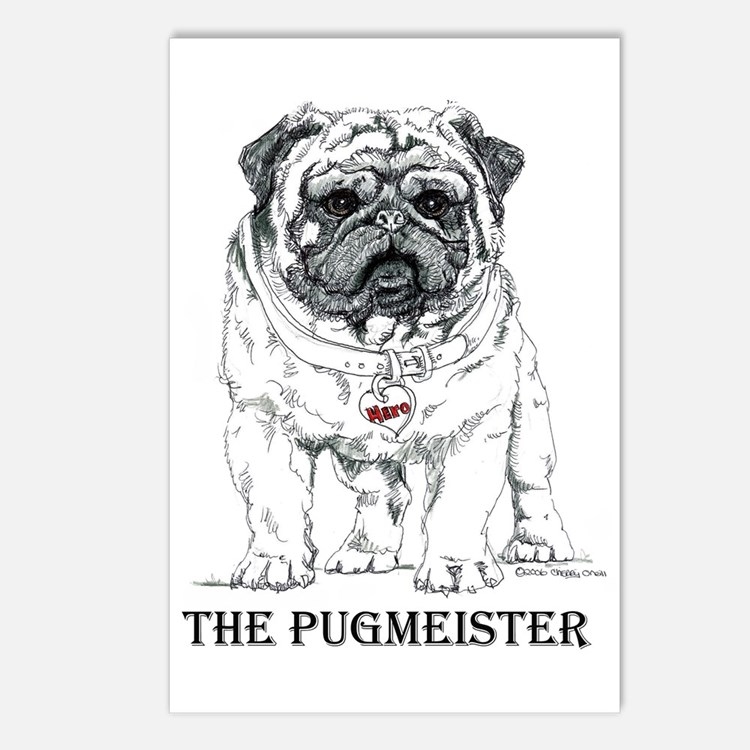 The Pugmeister Pug Postcards (Package of 8)