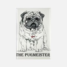 The Pugmeister Pug Rectangle Magnet