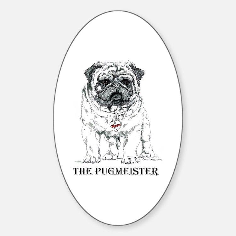 The Pugmeister Pug Decal