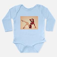 vintage pin up girl Long Sleeve Infant Bodysuit
