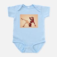 vintage pin up girl Infant Bodysuit