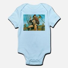 pin-up pirate Infant Bodysuit
