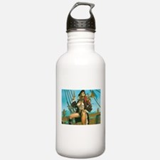 pin-up pirate Water Bottle