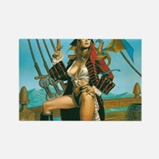pin-up pirate Rectangle Magnet