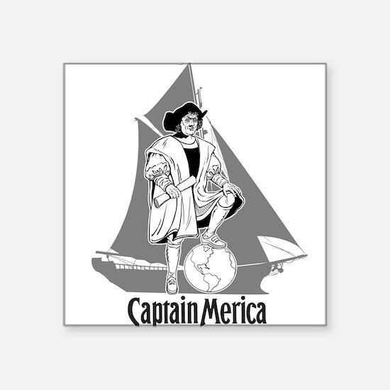 Columbus Day Funny T-Shirt -- Captain Merica Squar