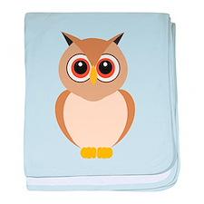 Brown Owl baby blanket