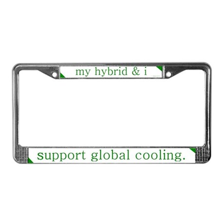 Global Cooling License Plate Frame