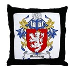 Moubray Coat of Arms Throw Pillow