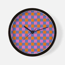 Regular Plaid Wall Clock