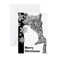 Giraffe and Calf Greeting Card