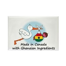 Stork Baby Ghana Canada Rectangle Magnet