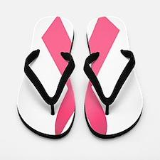 Breast Cancer Awareness Ribbon Flip Flops