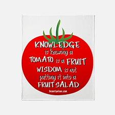 Tomato Smarts Throw Blanket