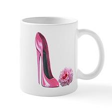 Pink Rose and High Heel Stiletto Mug