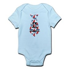 Sailboats 11 Months Tie Infant Bodysuit