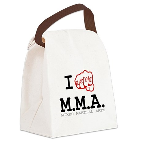 I love MMA Canvas Lunch Bag
