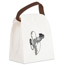 Punch (black) Canvas Lunch Bag