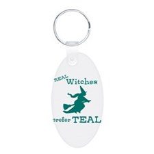 Teal Witch Keychains