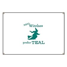 Teal Witch Banner