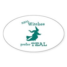 Teal Witch Decal