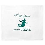 Teal Witch King Duvet