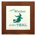 Teal Witch Framed Tile