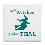 Teal Witch Tile Coaster