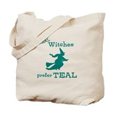 Teal Witch Tote Bag