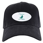 Teal Witch Black Cap