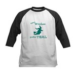 Teal Witch Kids Baseball Jersey