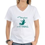 Teal Witch Women's V-Neck T-Shirt
