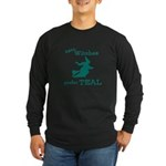Teal Witch Long Sleeve Dark T-Shirt