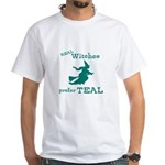 Teal Witch White T-Shirt