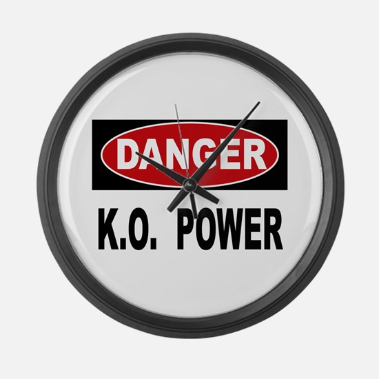 K.O. Power Large Wall Clock