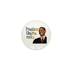 President Obama Rocks Mini Button (10 pack)