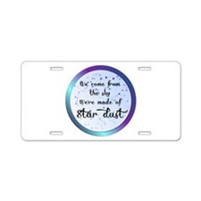Were all made of Star Dust Aluminum License Plate
