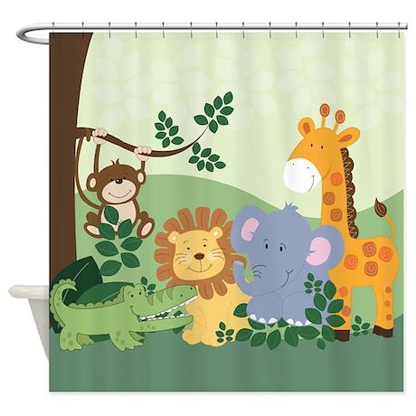 Jungle Safari Animals Shower Curtain