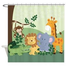 Jungle Safari Animals Shower Curtain