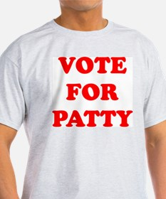 Vote For Patty Ash Grey T-Shirt