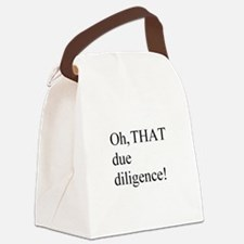 Due Diligence Canvas Lunch Bag