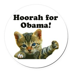 Cats for Obama! Round Car Magnet