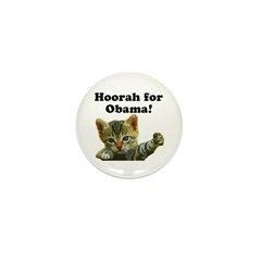 Cats for Obama! Mini Button (100 pack)