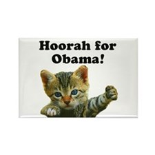 Cats for Obama! Rectangle Magnet (100 pack)