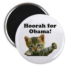 """Cats for Obama! 2.25"""" Magnet (10 pack)"""