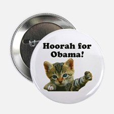 "Cats for Obama! 2.25"" Button"