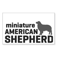 Mini American Shepherd Decal